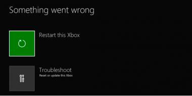 Riparazione XBOX ONE con errore di sistema dopo aggiornamento