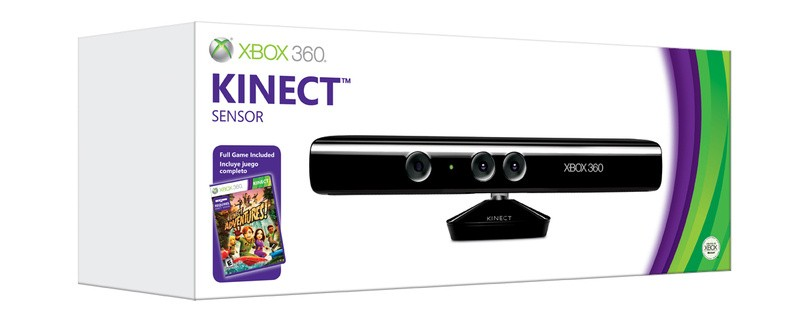 Kinect per xbox 360 + gioco Kinect Adventures