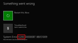 errore di sistema su xbox one