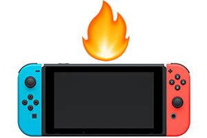 Una Nintendo Switch con problemi di surriscaldamento interno