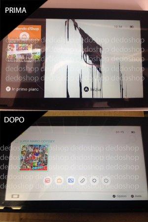 esempio di sostituzione schermo nintendo switch