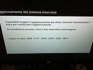 un aggiornamento interrotto su xbox 360